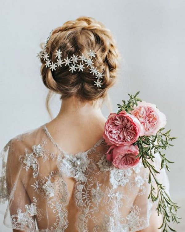 Star Headpiece with Updo