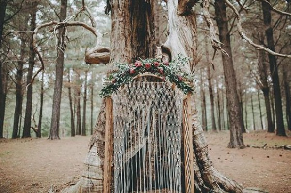 Elegant Forest Macrame Wedding Backdrop