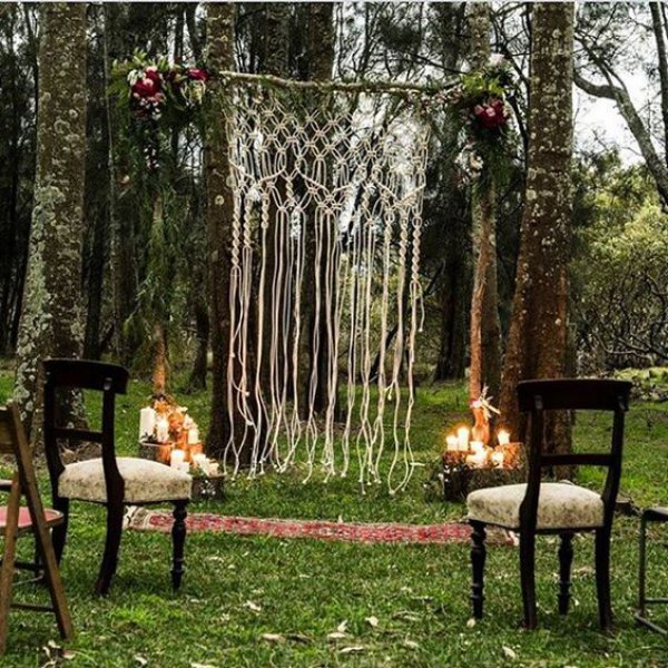 Single Macrame Wedding Backdrop