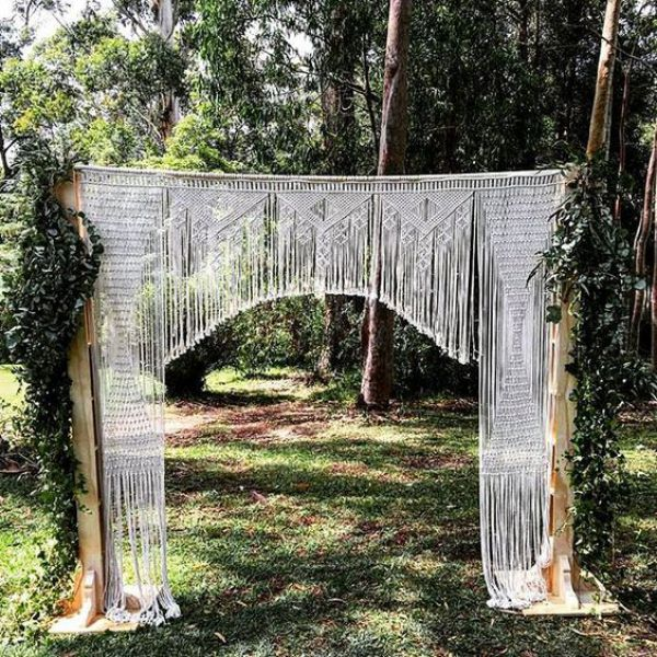 Large Macrame Wedding Backdrop