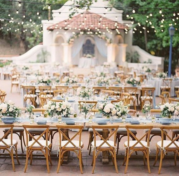 Outdoor Dining with Long Tables