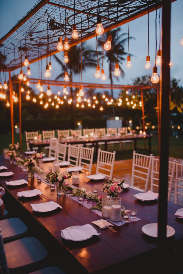 Charming Outdoor Dining In Tropical Setting