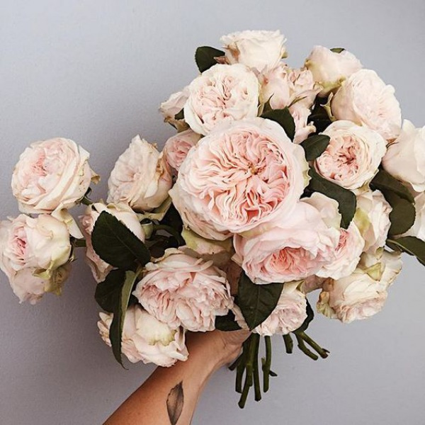 Peach Pastel Wedding Bouquet
