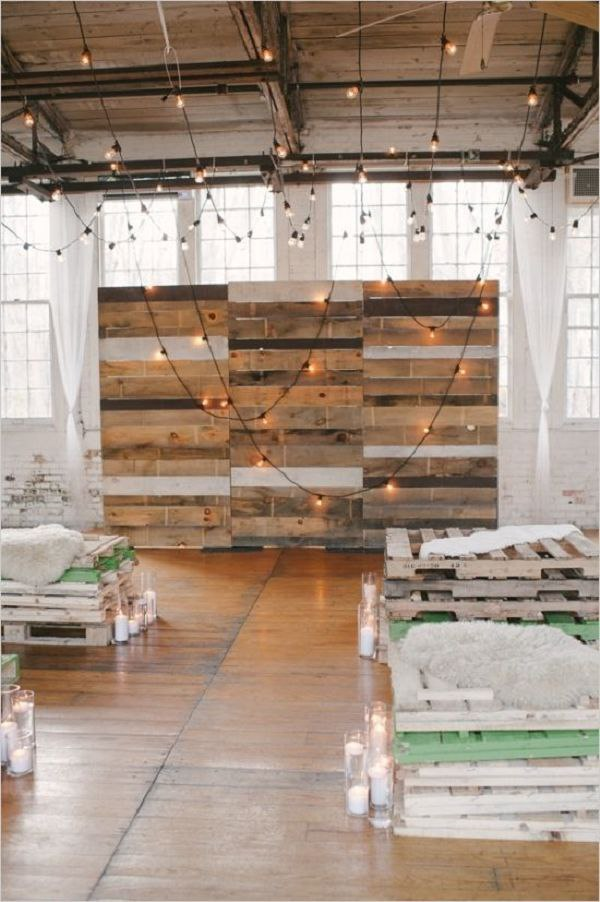 Industrial Wooden Pallet Backdrop