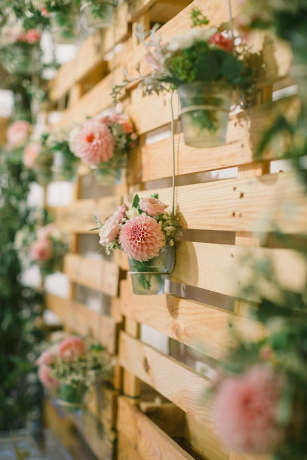Floral Rustic Wood Pallet Backdrop
