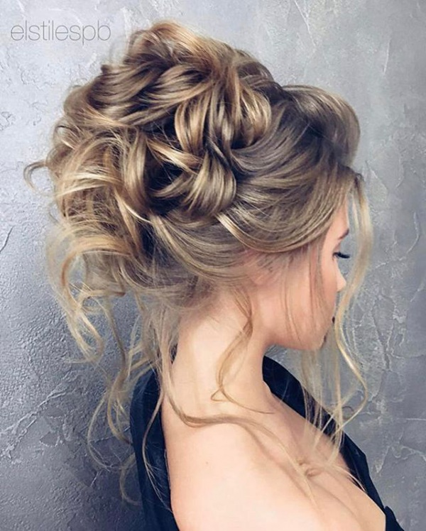 High Messy Bun Bridal Updo
