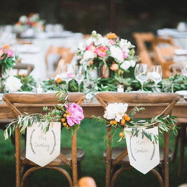 Sweetheart Table with Flowers