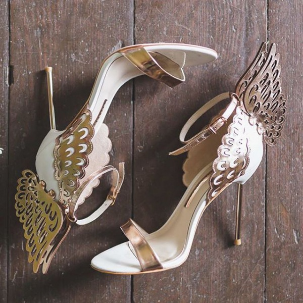 Embellished Shoes with Wing Details