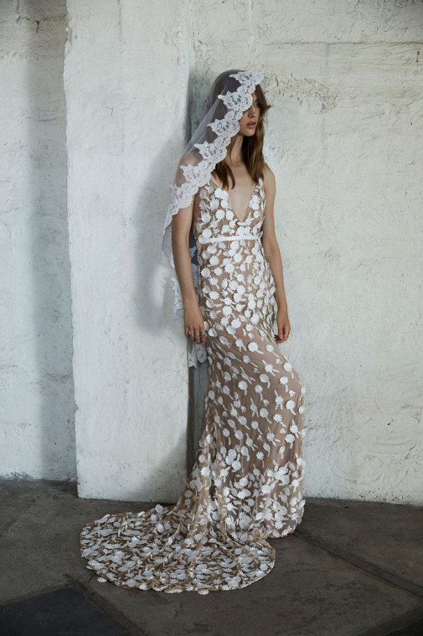 For Love and Lemons Marguerite Gown Full Length