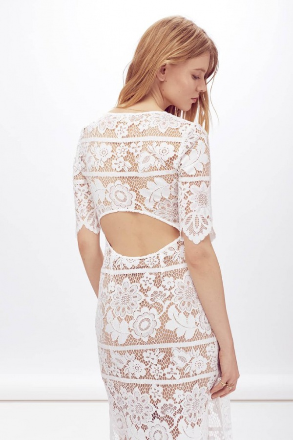 For Love and Lemons Viviana Gown Back View