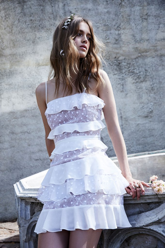 For Love and Lemons Cosmic Tiered Gown