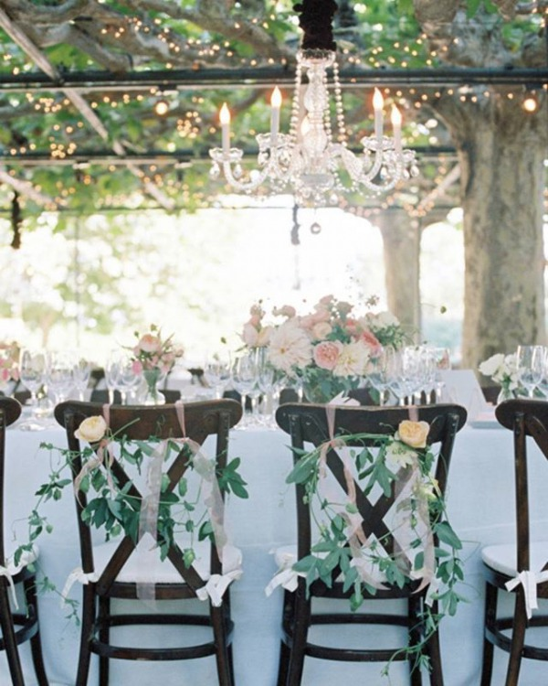 Sweetheart Chairs and Chandeliers