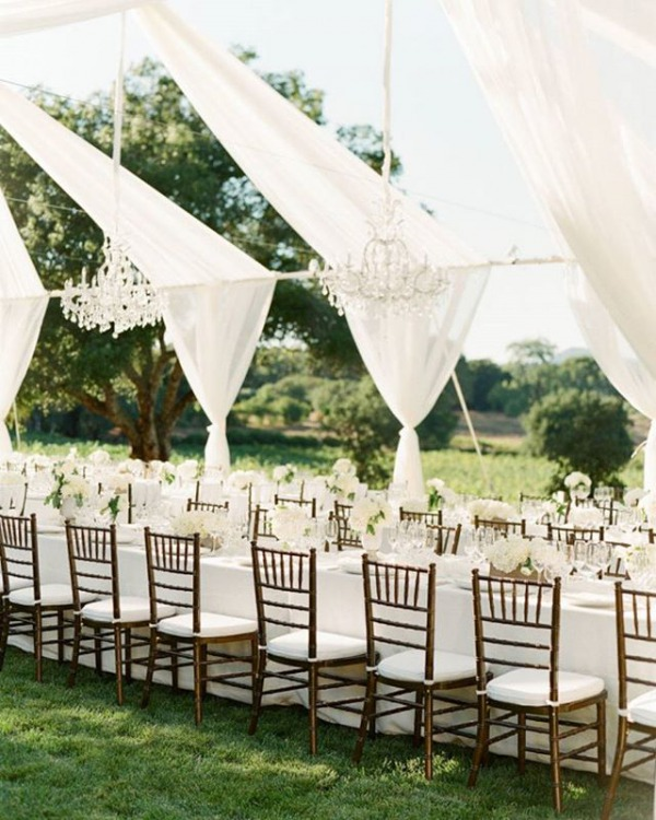 Chandeliers and White Reception