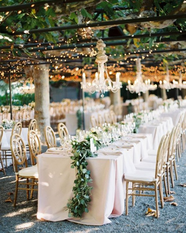 Chandeliers with Greenery