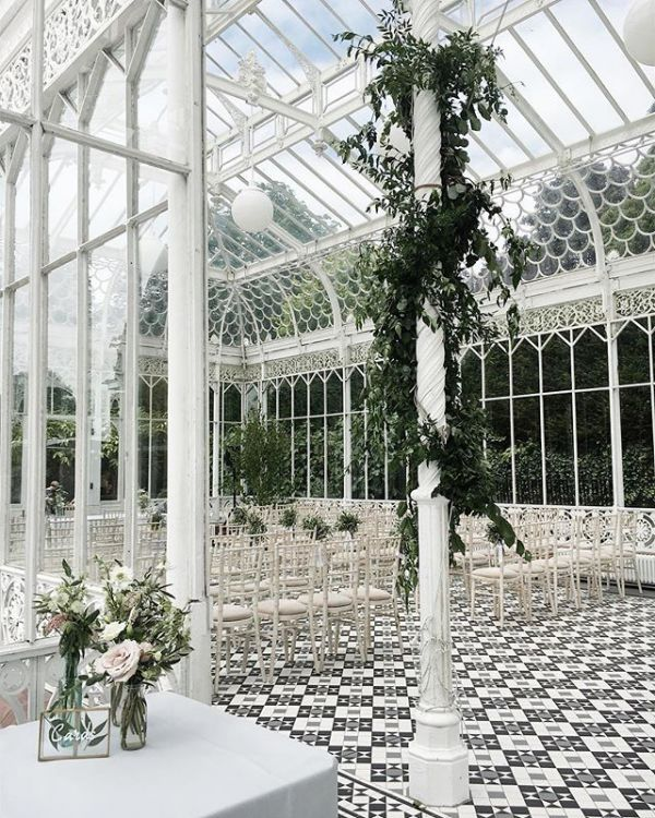 White Glass Greenhouse