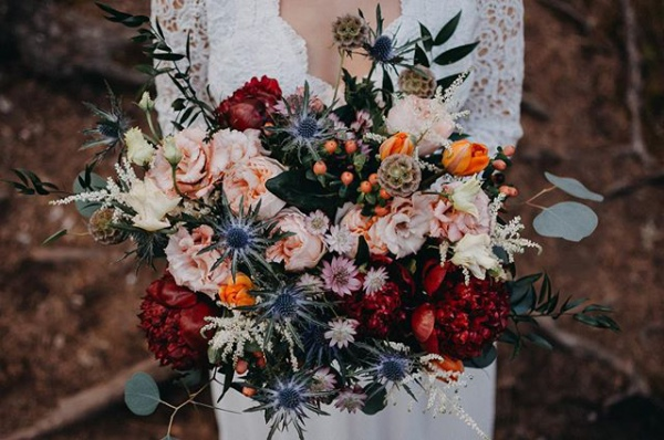 Stunning Autumn Bouquet with Rustic Flowers