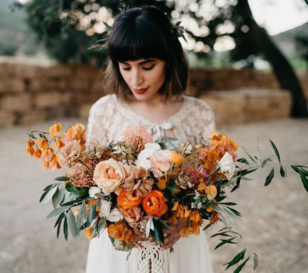 Stunning Autumn Bouquet with Orange Flowers