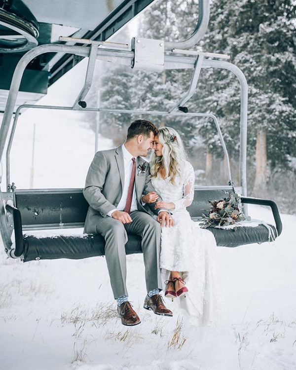 Winter Wedding Ski Lift