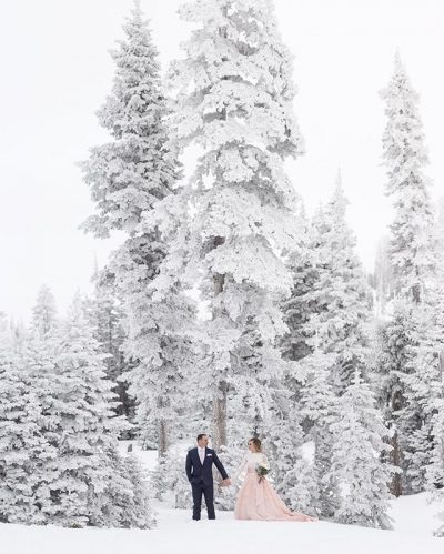 Winter Wonderland Bride and Groom