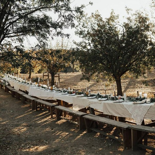 Outdoor Dining with Rustic Farm Tablescape