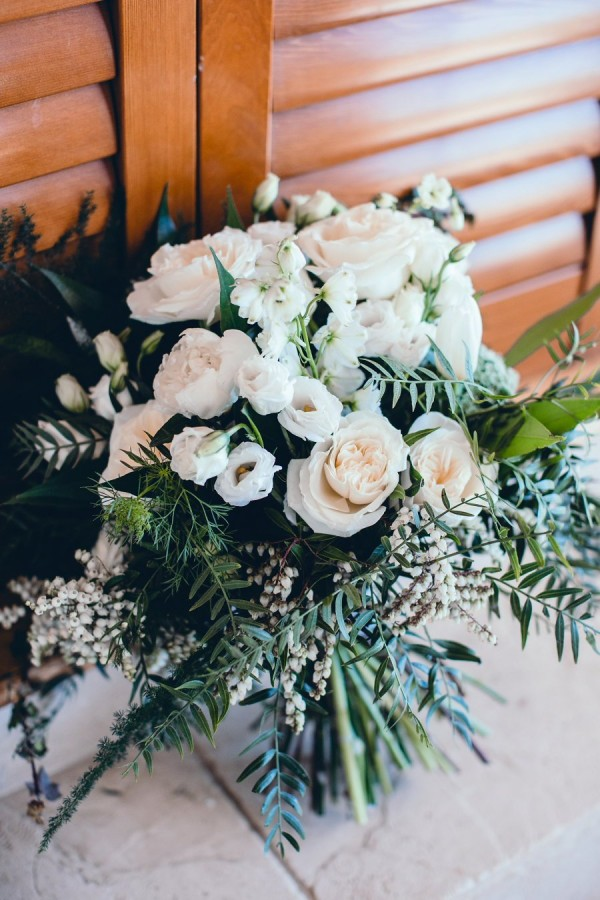 Spring Floral Wedding Bouquet White