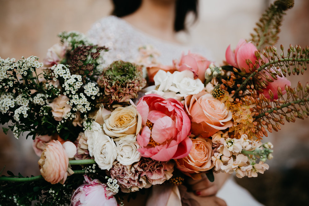 Spring Floral Wedding Bouquet Bright