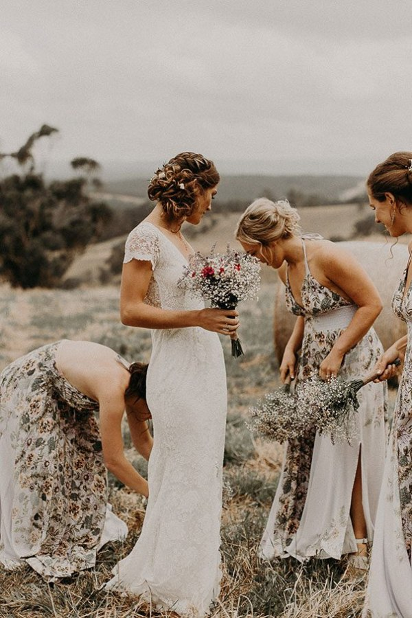 Bridesmaid Dresses in Floral Print