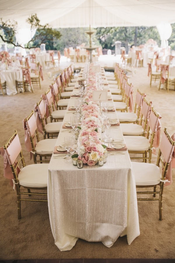 Blush Beach Wedding Reception