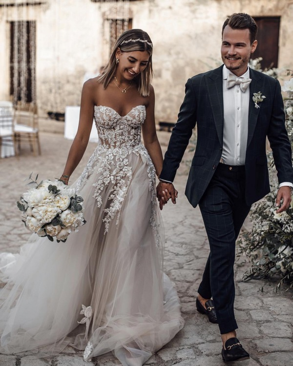 Wedding Dress with Detailed Bodice