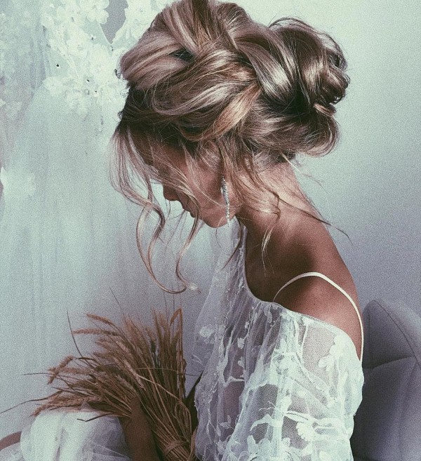 Stunning Bridal Messy Updo Hairstyles The Bohemian Wedding
