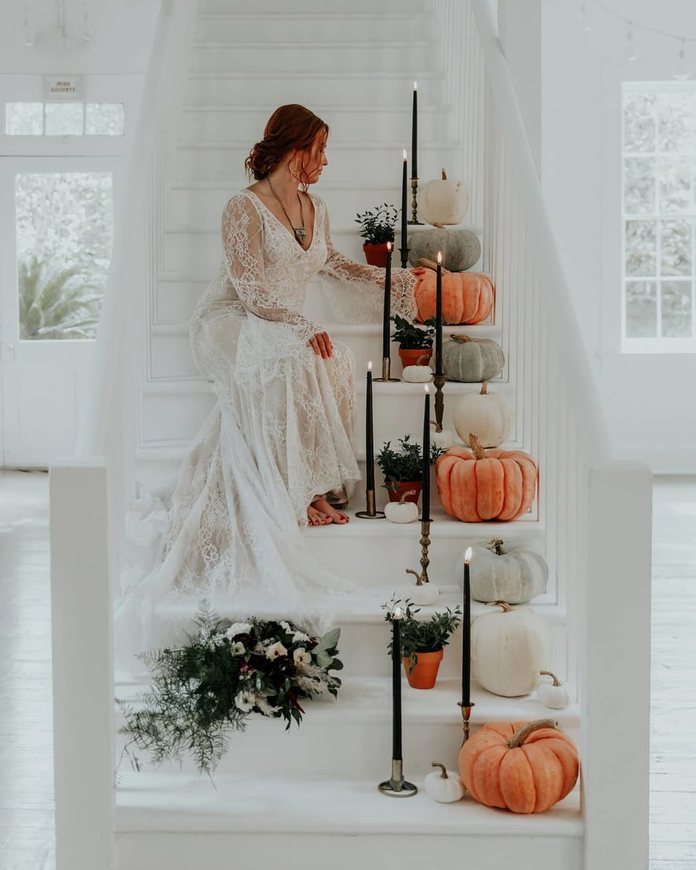 Halloween Wedding Accents with Pumpkins