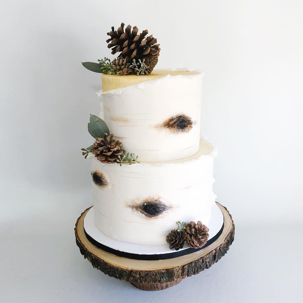 Birch Winter Wedding Cake
