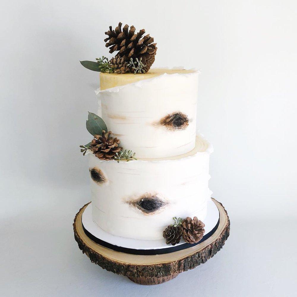 Birch Winter Wedding Cake