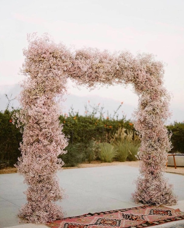 Baby Breath Arbour Wedding Backdrop