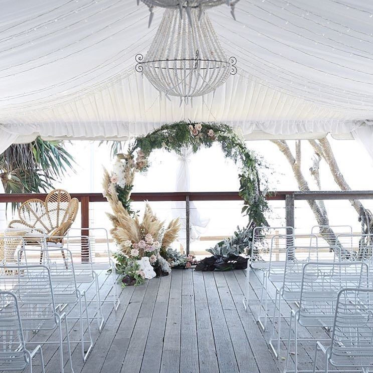 Circle Arbour Wedding Backdrop with Flowers