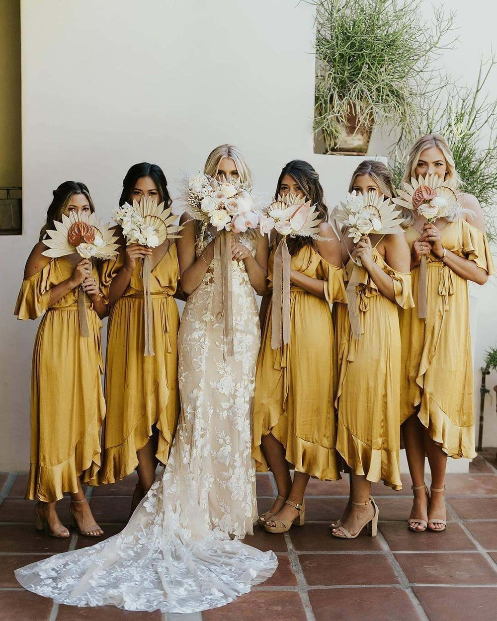 Colorful Yellow Bridesmaid Dresses