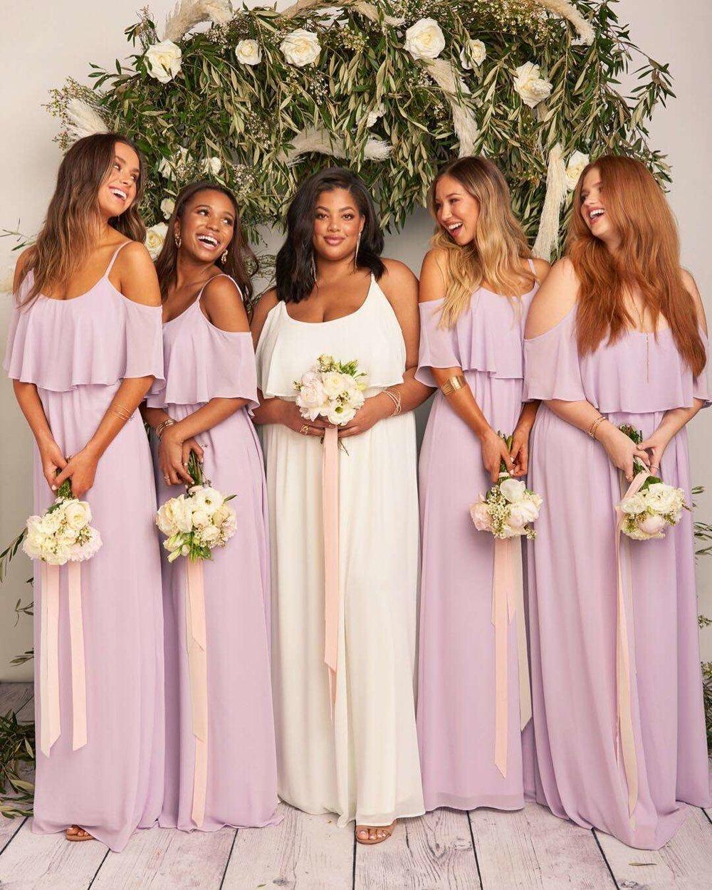 Bridesmaid Dresses in Purple