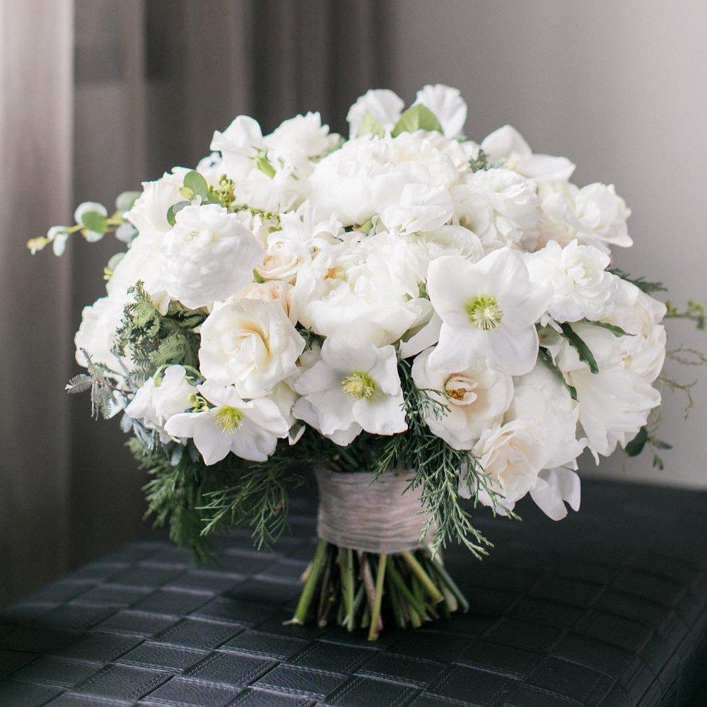 White Spring Flower Bouquet