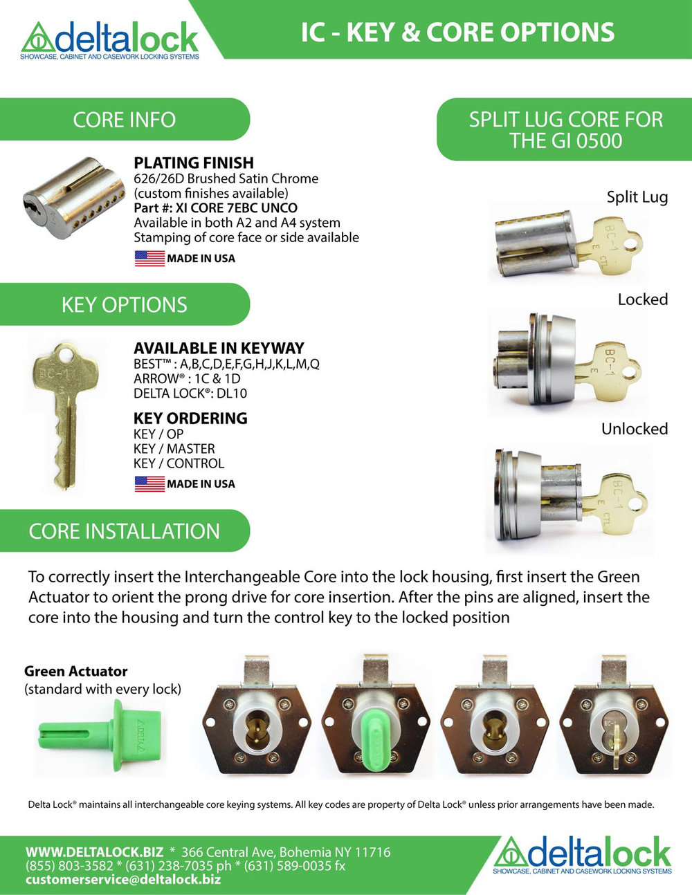 Lock Cores