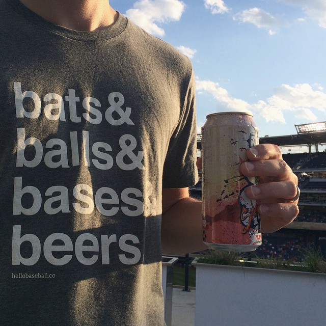 yesterday had perfect baseball weather (with a little @flyingdogbrewery on the side).