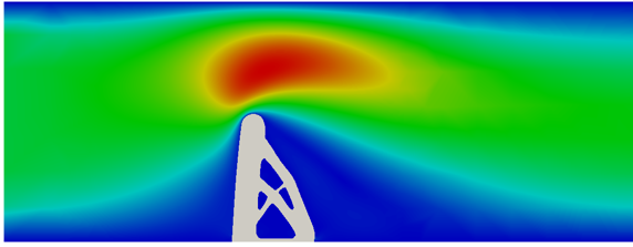 Topology optimization of immersed boundary FSI problems