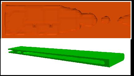 Internal topology optimization of 3D rectangular wing