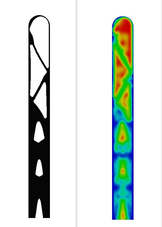 Optimization result for beam FSI.