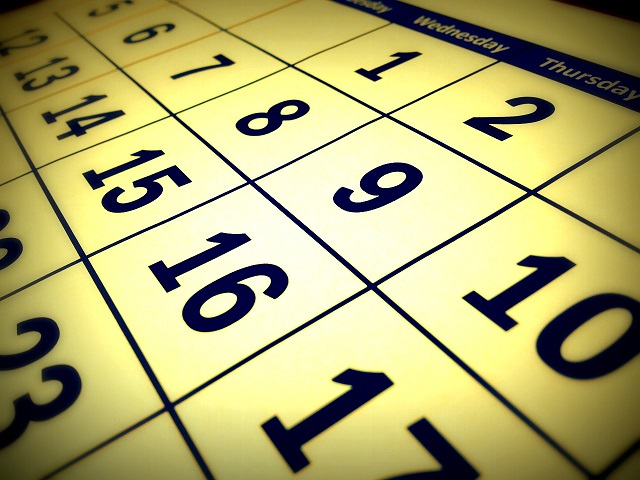 Photo Source: https://pixabay.com/en/calendar-date-time-month-week-660670/
