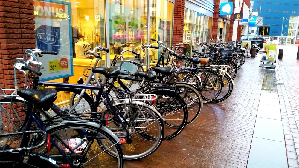 A small fraction of bikes belonging to AH shoppers
