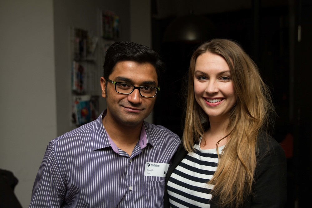 Sourish and me at the first event.