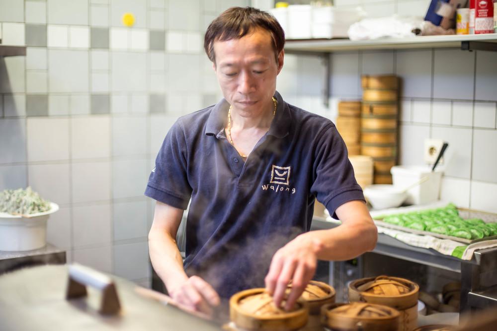 Dim Sum chef G.S. Li van Restaurant Walong