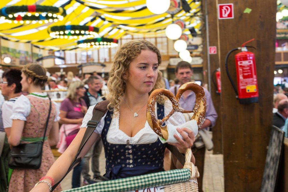 Pretzel verkoop Oktoberfest München