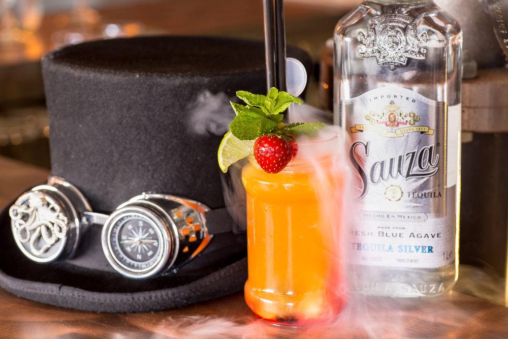 Droog ijs Cocktail