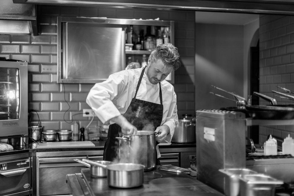 Mark van Bemmel - Chefkok Mark van Bemmel van Restaurant Publique.